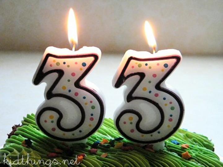 Eu também tenho 33 anos!