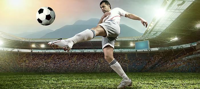 O jogador de futebol