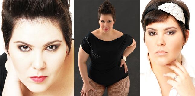 Carolina Lages,  atriz, dançarina e modelo plus size.