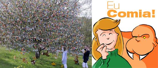 Casal decora árvore com quase 9.800 ovos de Páscoa