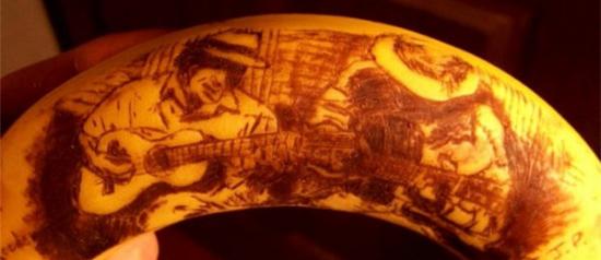 Bananas como forma de arte