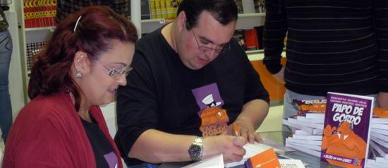 """Como foi o lançamento do livro """"Papo de Gordo"""" na Bienal"""