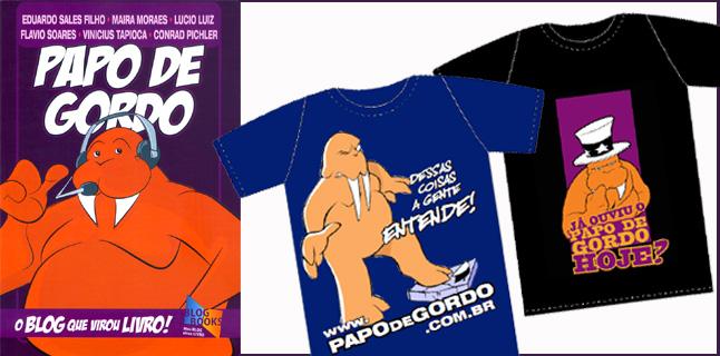 Promoção de livros e camisetas do Papo de Gordo na Campus Party!