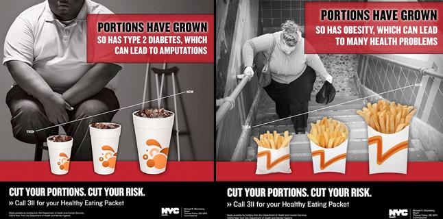 Fotos chocantes contra a obesidade