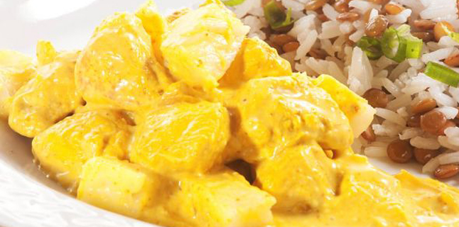 Estrogonofe com curry?