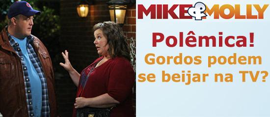 """Mike & Molly: casal de gordinhos é chamado de """"nojento"""""""