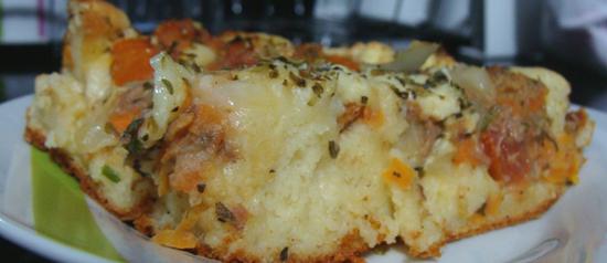 Torta light de atum, mas que pode ficar bem calórica
