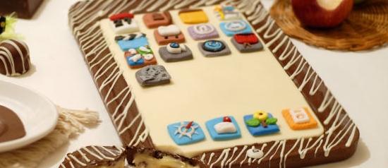 Que tal uma torta de iPad?