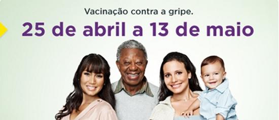 Campanha nacional de vacinação contra a gripe