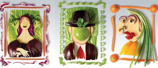 Vegetais como forma de arte