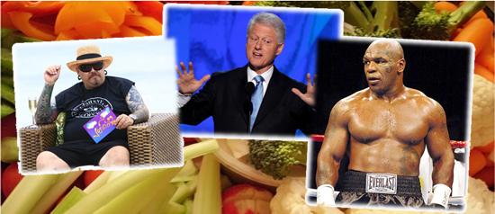 Inesperados vegetarianos: Bill Clinton, Mike Tyson e João Gordo