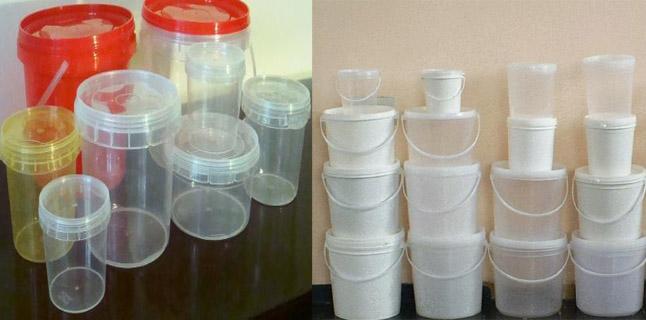 Reutilizando potes plásticos
